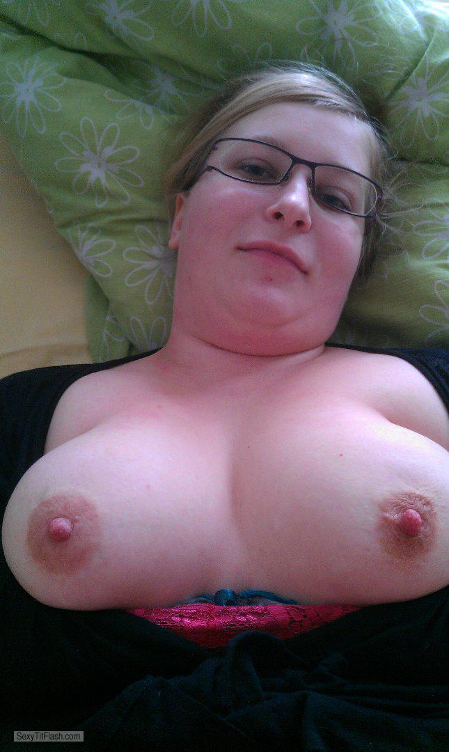 Tit Flash: Wife's Big Tits - Topless My Wife from Denmark